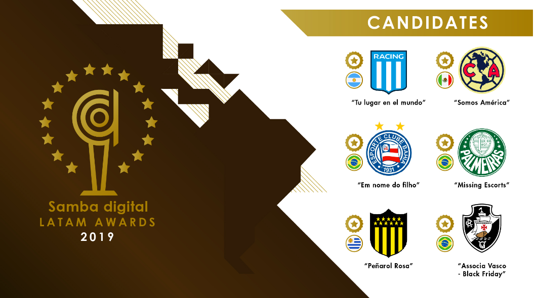 Six nominees confirmed for the Samba Digital Awards for LATAM