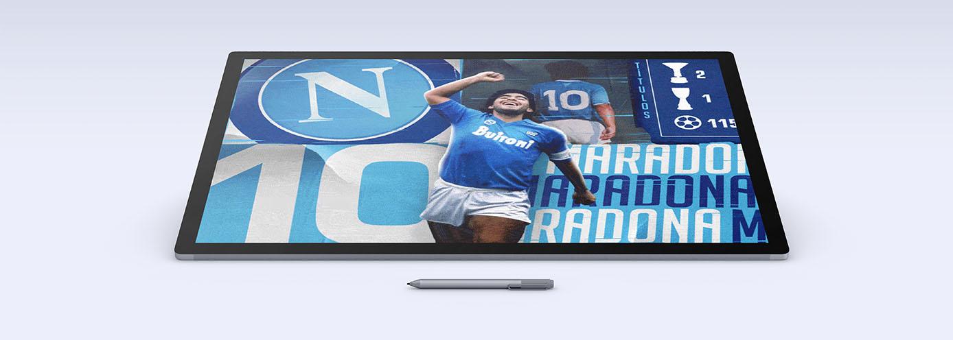 NAPOLI-BARÇA - Maradona