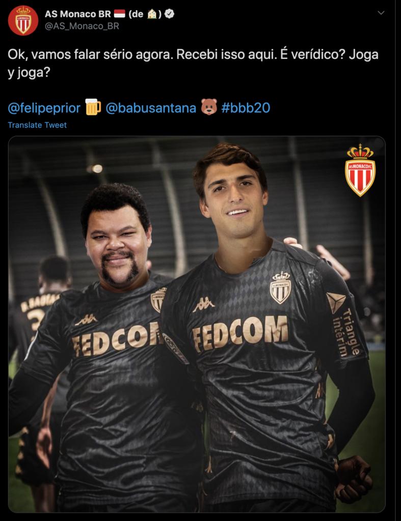 AS Monaco's BBB Tweet.