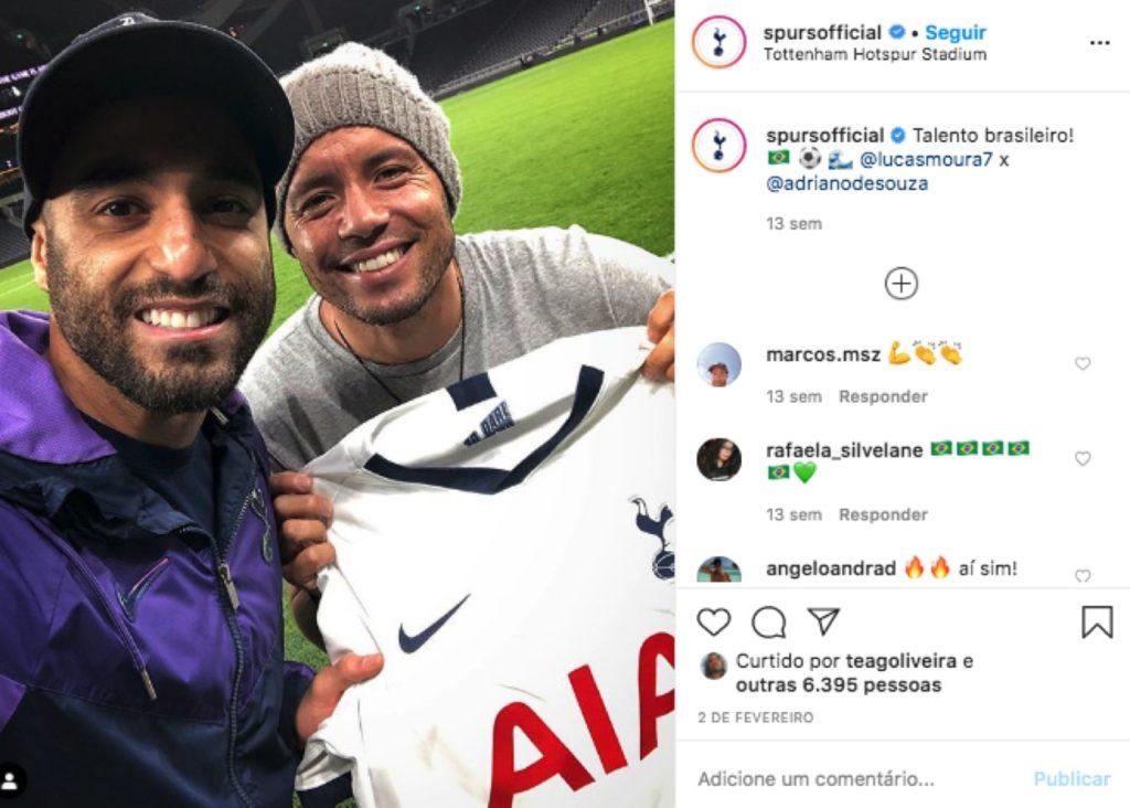 Tottenham Hotspurs' Instagram post for Brazil only.