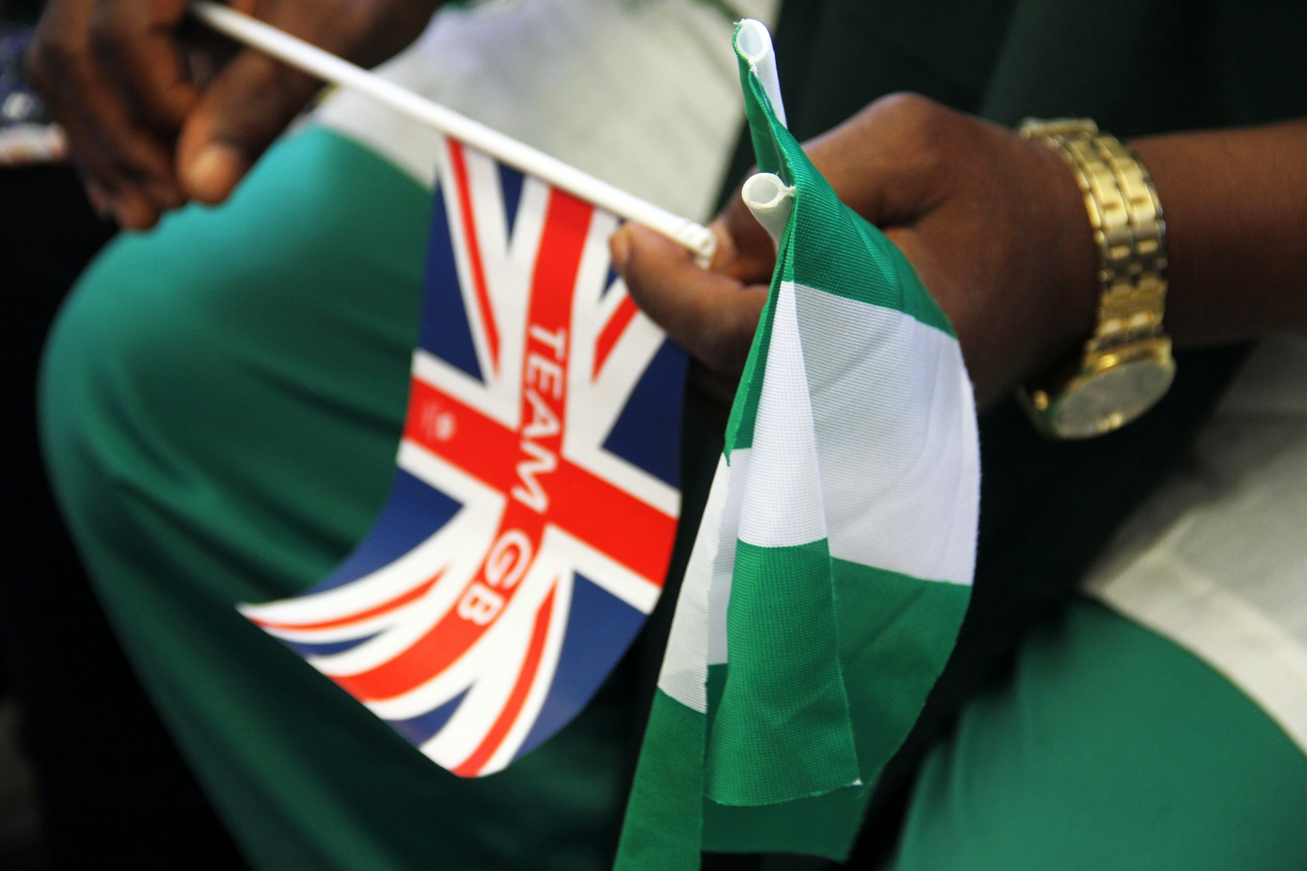 English Nigerian flag