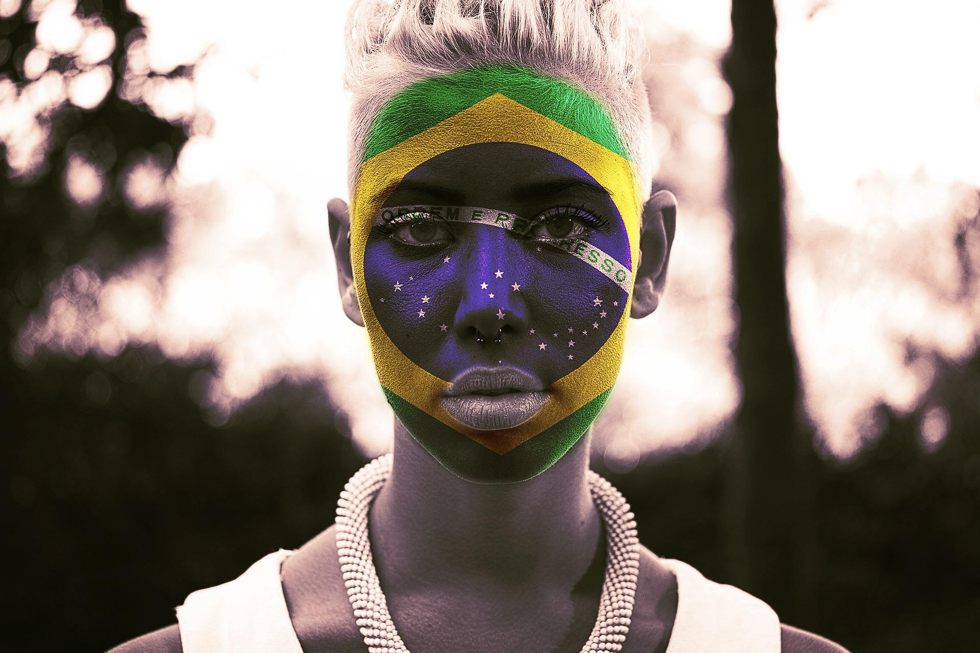 fan brazil woman